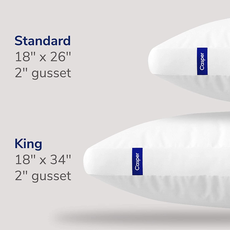 costco members casper the essential pillow king 50 or standard
