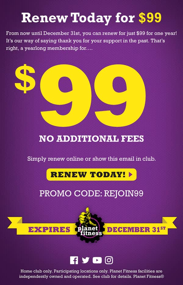 Planet Fitness Promo Code No Annual Fee 2019 : planet, fitness, promo, annual, Promo, Planet, Fitness, FitnessRetro
