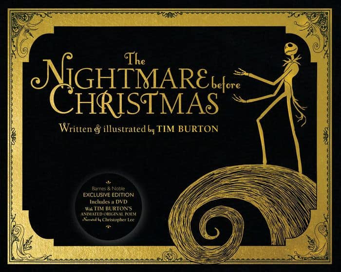 Burton Poem Christmas Original Nightmare Tim