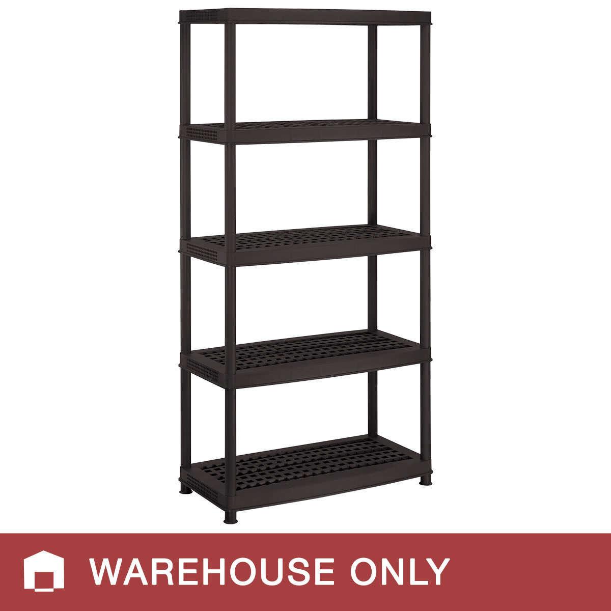 Keter 5 Shelf Plastic Ventilated Storage Unit Black 72 X