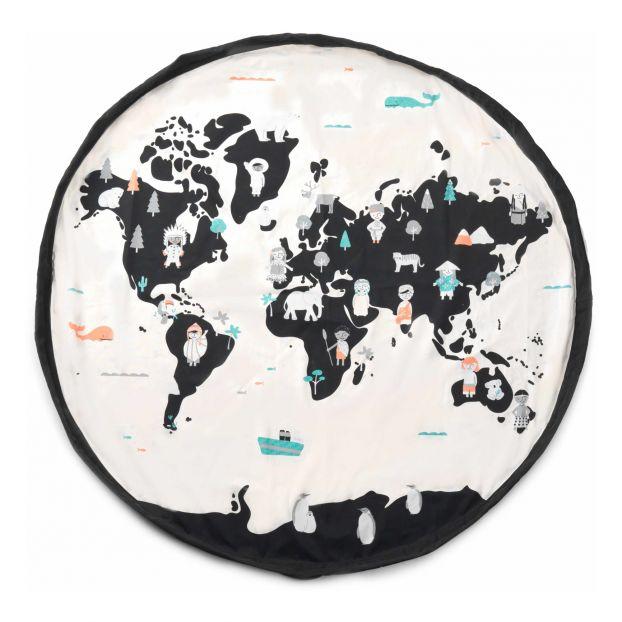 sac tapis de jeux carte du monde blanc