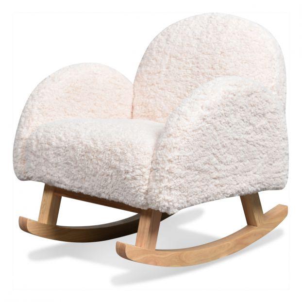 fauteuil a bascule blanc