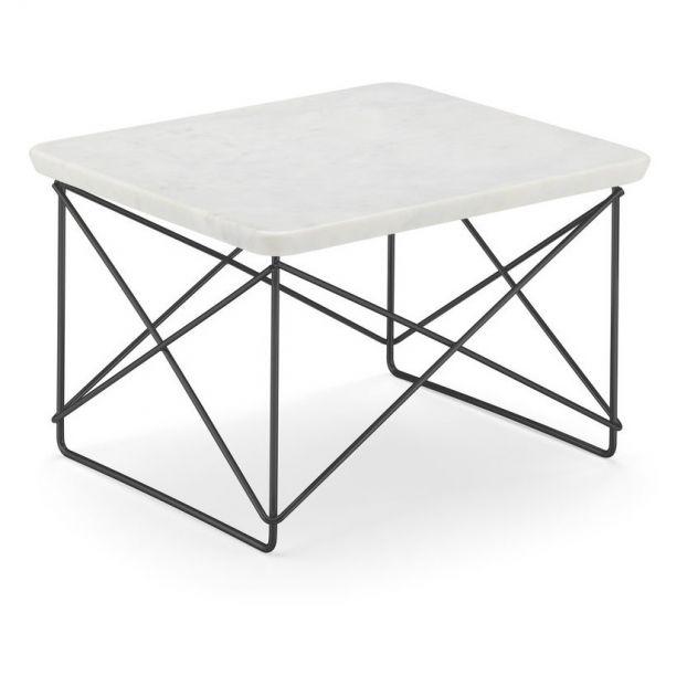 table d appoint eames ocassional ltr pietement epoxy marbre blanc