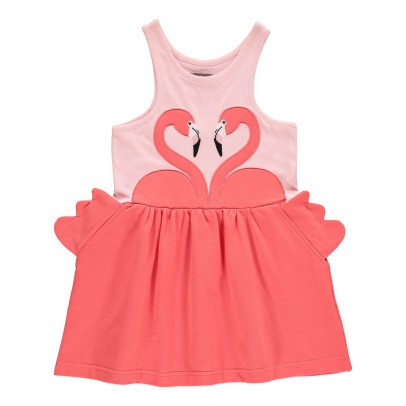 Dehli Flamingo Dress Pink Milk on the Rocks