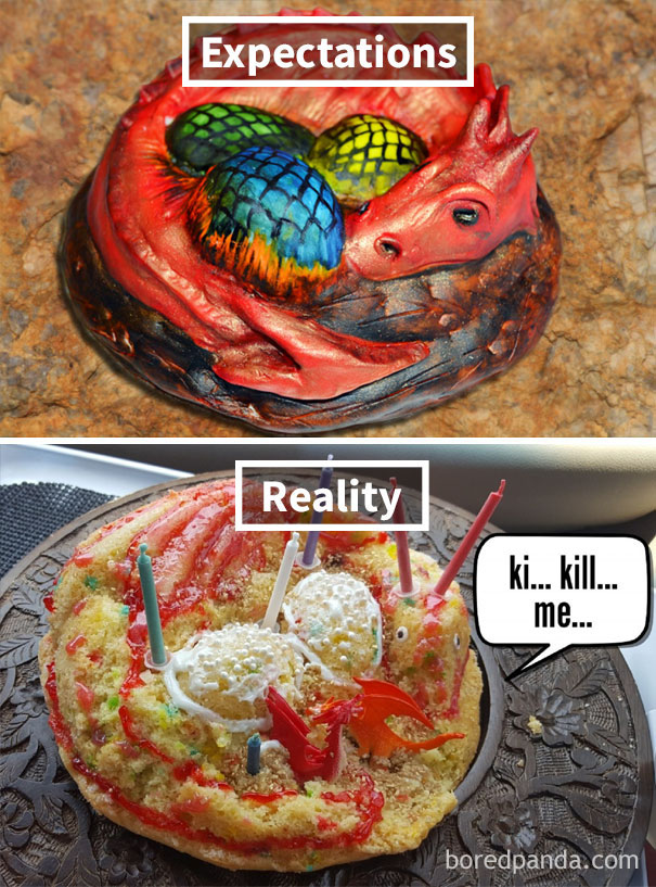 My Wife Made A Dragon Cake For Her Mother