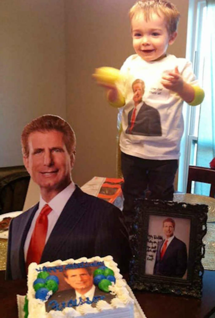 This Toddler Loves The Ads For A Local Personal Injury Lawyer So Much, His Mom Made It His Birthday Party Theme
