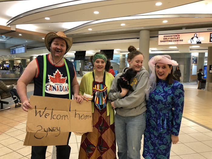 We Decided To Embarrass Our Daughter At The Airport After 3 Months Away (We Don