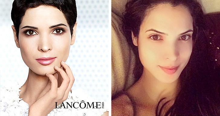 Encontramos a las modelos de anuncios de cosméticos para ver cómo lucen sin maquillaje