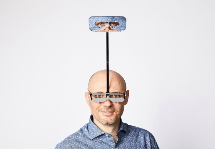 London-based designer Dominic Wilcox has created the One Foot Taller glasses for people who are too short at gigs