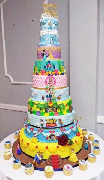 gâteau à thème disney