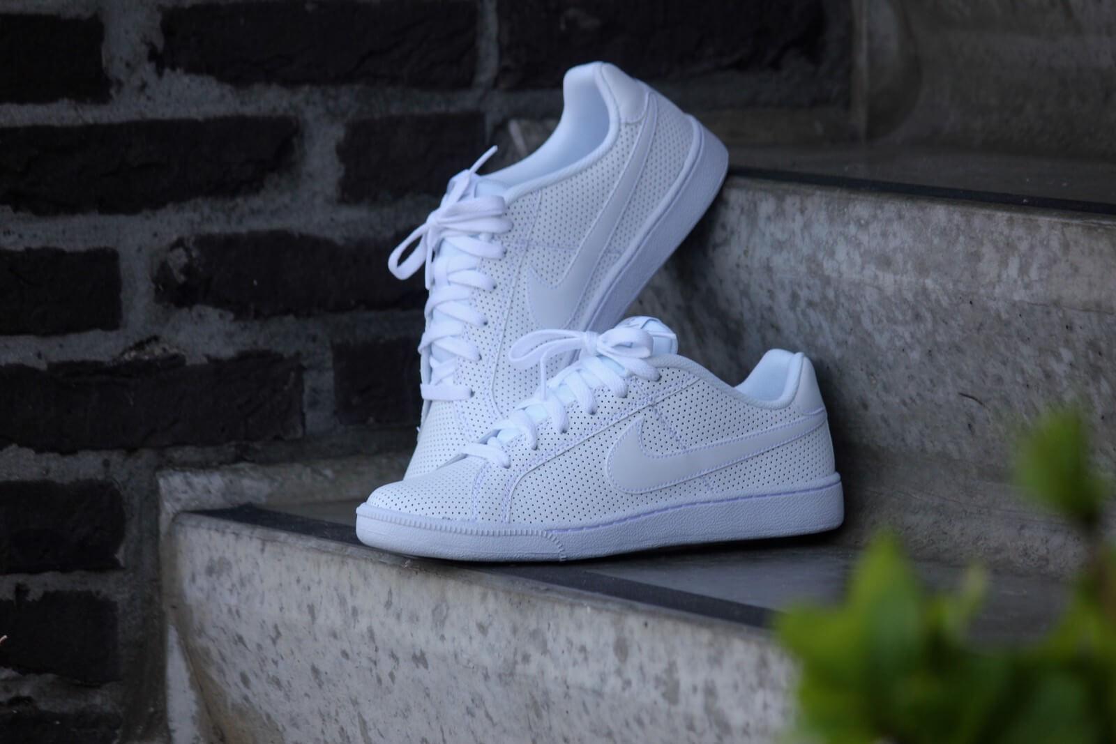 Nike Court Royale PRM Leather White White Metallic Silver