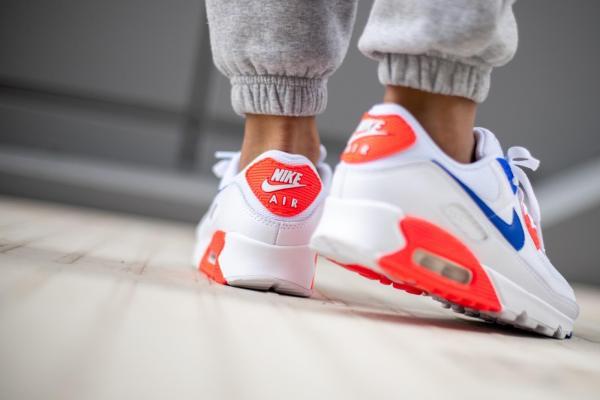 Women's Nike Air Max 90 SE 'Racer Blue / Flash Crimson' .49 Free Shipping