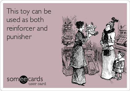 Funny Somewhat Topical Ecard: This toy can be used as both reinforcer and punisher.
