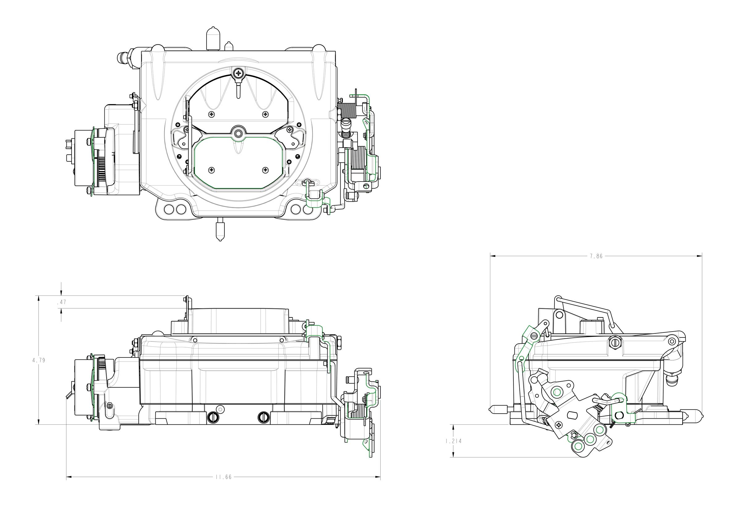 Demon Carb Street Demon 750 Crm 4 Barrel Carburetor Polymer Body