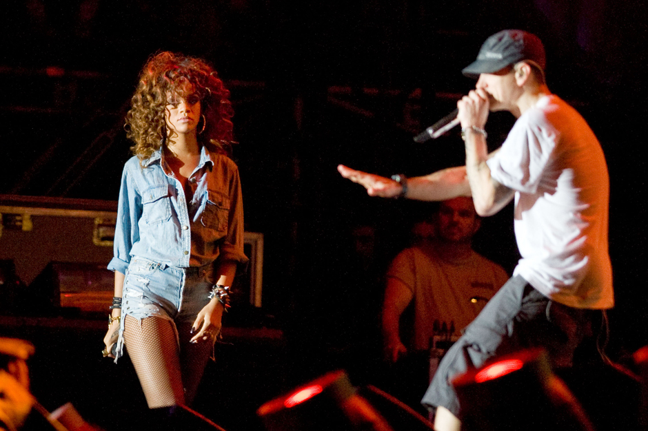 Eminem And Rihanna Wrestle With Insanity On The Monster