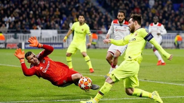 Messi was influential as always but unable to find the back of the net against a resolute Lyon backline.