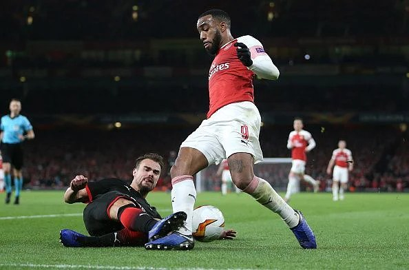 Lacazette provided a surprise boost after his suspension was reduced earlier this week so he could feature
