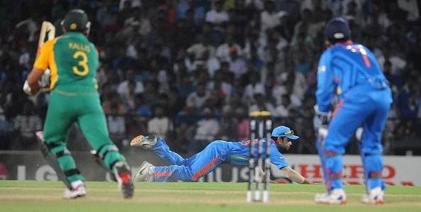 Virat Kohli: spectacular in the field