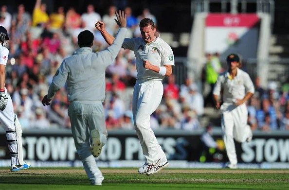 Peter Siddle of Australia celebrates the wicket of Joe Root of England during day two of the 3rd Ashes Test at Old Trafford on August 2, 2013 in Manchester, England. (Getty Images)