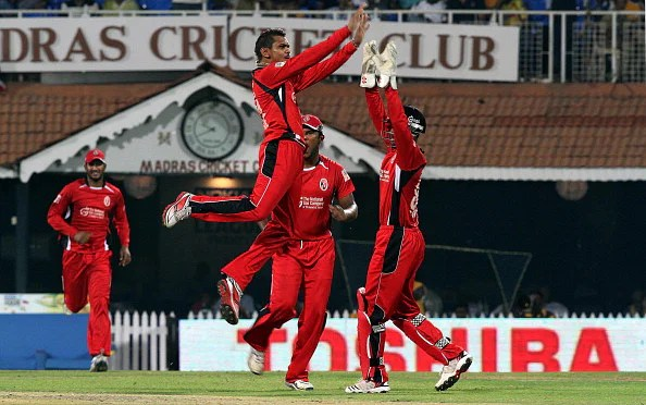 Sunil Narine (file photo) celebrates after taking a wicket