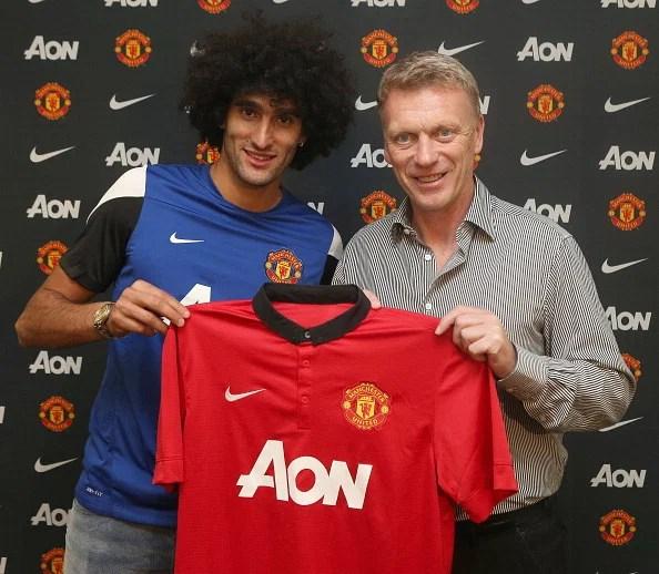 Manchester United Unveil New Signing Marouane Fellaini