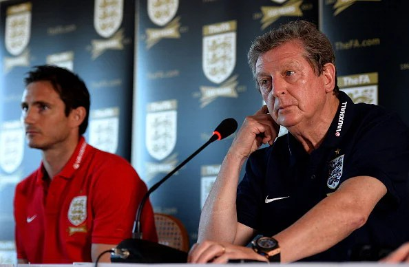 England international Frank Lampard and England manager Roy Hodgson