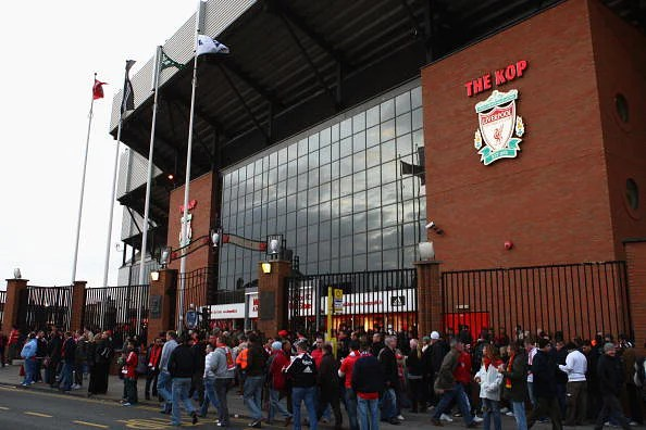 File photo of the outside entrance of Anfield