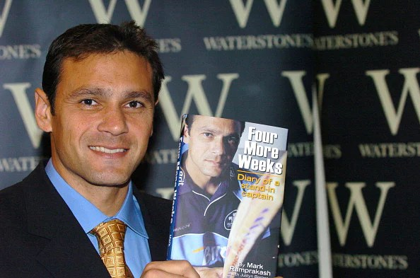 "Mark Ramprakash Signs His Book ""Four More Weeks"" at Waterstone's in London - November 15, 2005"