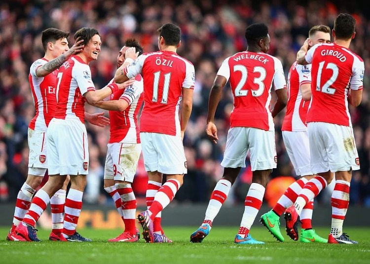 Image result for arsenal top 4