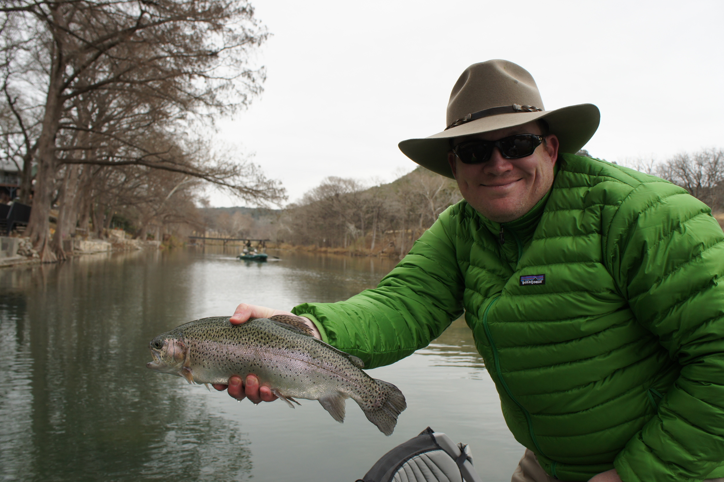 Alvin dedeaux fly fishing fly fishing central texas for Guadalupe river trout fishing