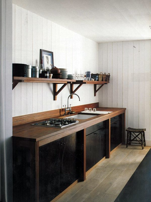 modern winter cabin