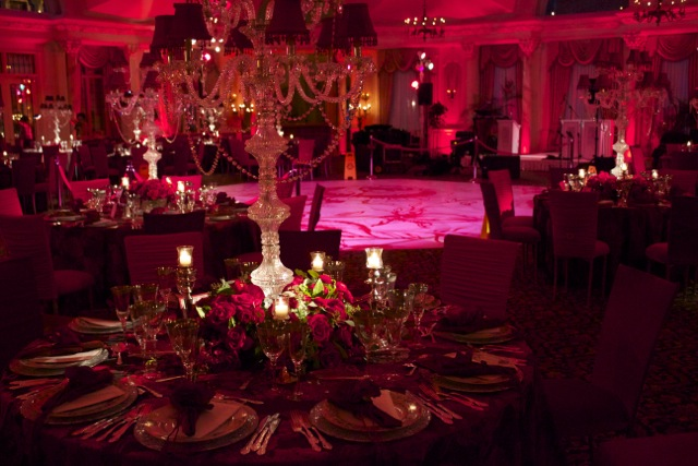 Valentines Day Luxury Wedding Lighting And Decor