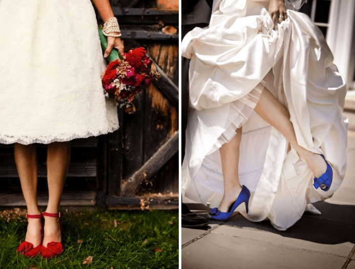 red wedding shoes blue wedding shoes