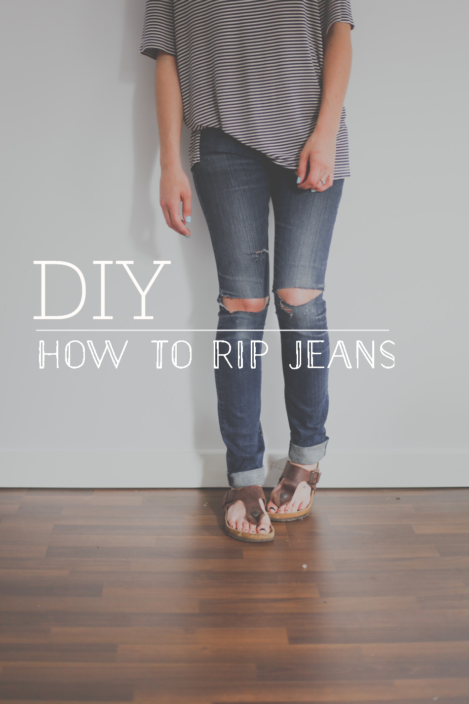 DIY How To Rip Jeans Treasures Amp Travels