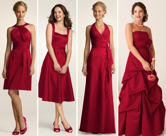 Bridesmaids Dresses that coordinate AND show their own unique style Short Cotton Dress with Y Neck and Skirt Pleating Style 83690  Style Satin  Wide Strap Tea Length Dress Style F14556 Soft Crinkle Chiffon Halter with  Draped