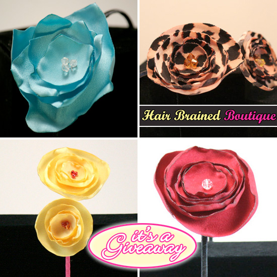 Giveaway 50 In Stylish Fabric Flowered Headbands And Clips