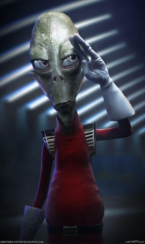 Realistic FUTURAMA Alien Art GeekTyrant