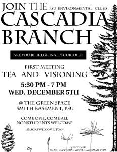 Portland Cascadia Meeting Flyer