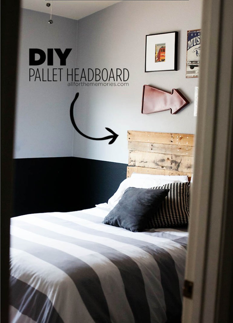DIY Pallet headboard from All for the Memories