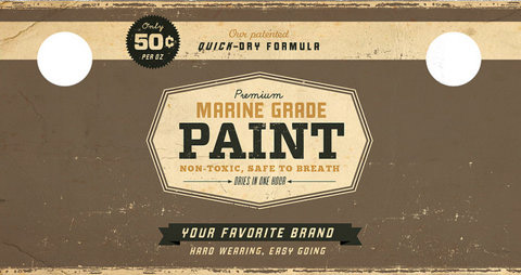 Vintage Paint Can Labels The Dieline Packaging