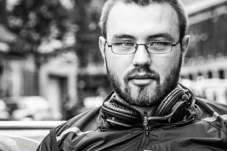 Michael Rammell London Street Photography Black and White Portrait