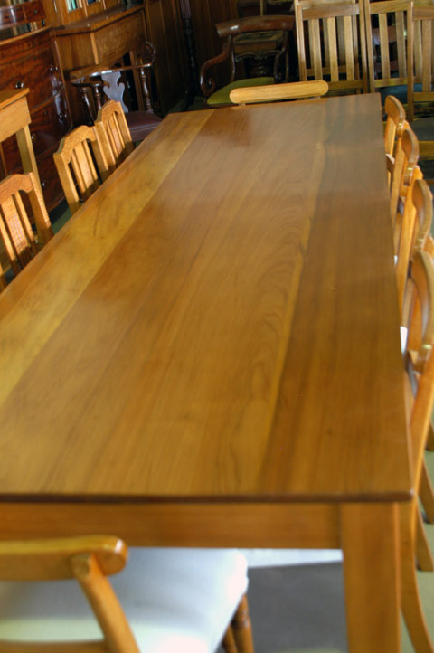 Large Kauri Dining Table Antiques Industrial Vintage Furniture Amp Restoration Polish Bangalow