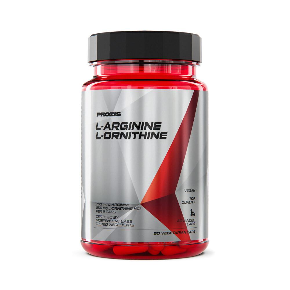 Prozis L-Arginin L-Ornithin 500 Mg 60 Kapseln Muskelaufbau Kraft Erholung