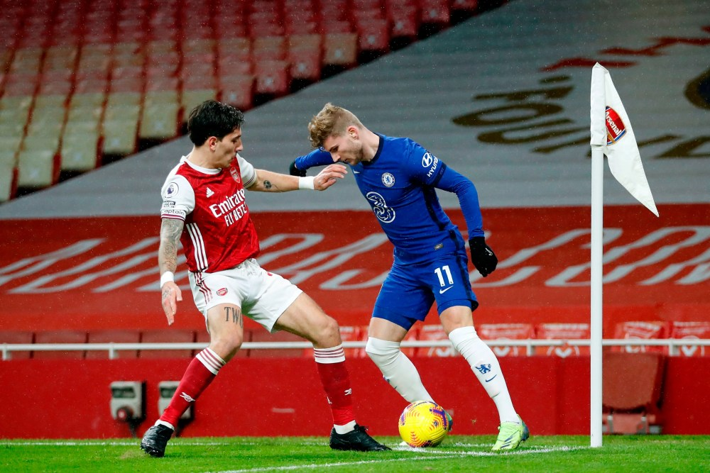 Frank Lampard: Timo Werner didn't offer Chelsea enough 'with or without the  ball' vs Arsenal | Evening Standard