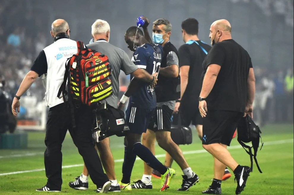 BREAKING: Super Eagles star collapses on the pitch during Ligue 1 match