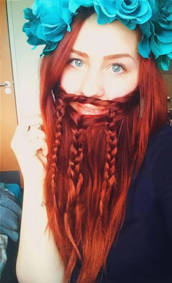 Women Are Braiding Their Hair Into Beards In Bizarre New