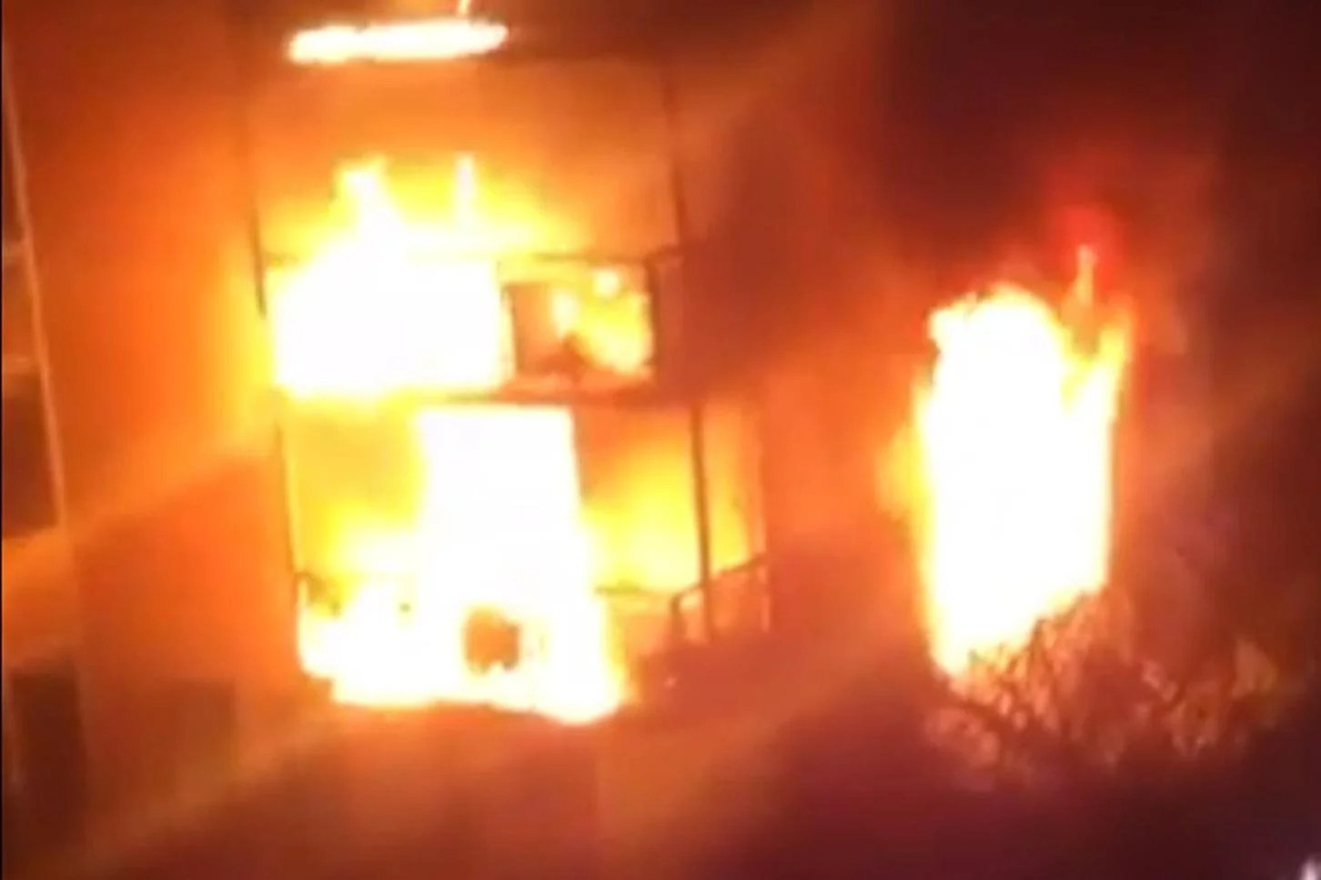 Stratford Fire Terrifying Moment Huge Blaze Rips Through