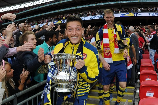 Image result for ozil fa cup 2014