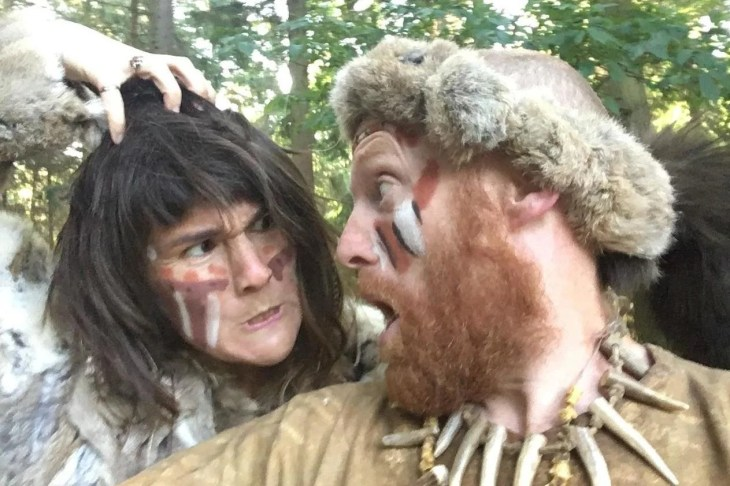 Dan Westall and Naomi Walmsley once lived as cavedwellers in the American wilderness.