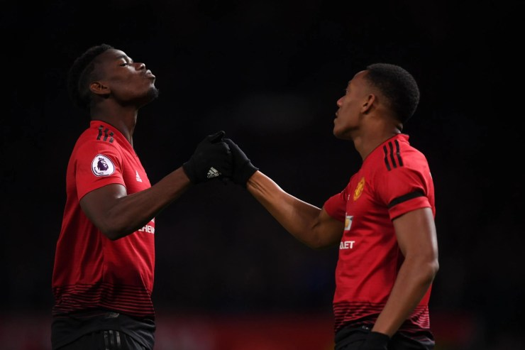 Image result for Anthony Martial, Marcus Rashford and Paul Pogba  PSG manager makes Mbappe and Neymar comments ahead Man Utd match pogba martial 281018